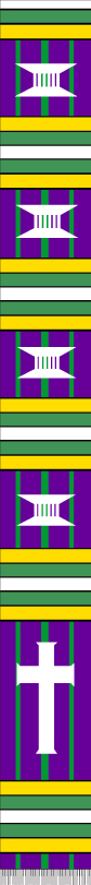 FANCY CLERGY PURPLE GREEN