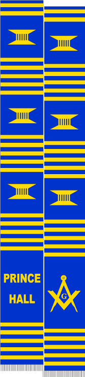 PRINCE HALL MASONS BLUE & GOLD