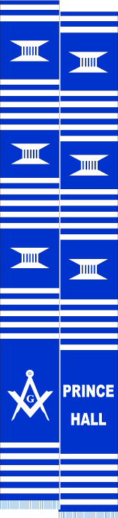 PRINCE HALL MASONS BLUE & WHITE