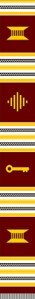 PLAIN KENTE BURGUNDY/GOLD&WHT
