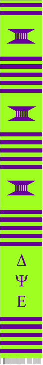 DELTA PSI EPSILON LIME GREEN KENTE STOLE
